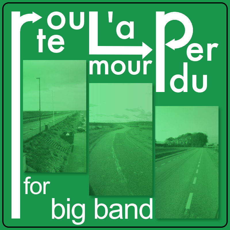 YouTube video of the big band composition Route l'amour perdu by Frans Absil