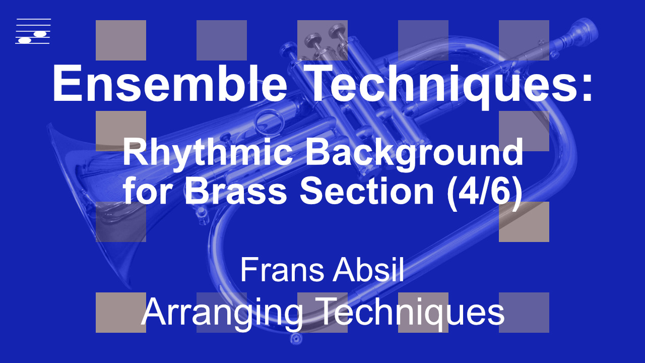 YouTube thumbnail for the video tutorial Ensemble Techniques: Percussive Brass Voicings