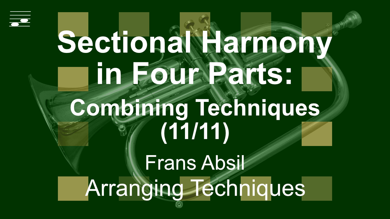 YouTube thumbnail for the video tutorial Sectional Harmony in Four Parts: Combining Techniques